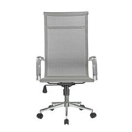 Компьютерное кресло для руководителя Riva Chair 6001-1SE сетчатое серое, Цвет товара: Серый, изображение 2