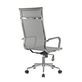 Компьютерное кресло для руководителя Riva Chair 6001-1SE сетчатое серое, Цвет товара: Серый, изображение 4