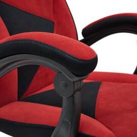 Кресло компьютерное «Arena» флок  бордовый/черный, 10/35 TetChair, Цвет товара: бордовый, изображение 10