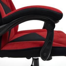 Кресло компьютерное «Arena» флок  бордовый/черный, 10/35 TetChair, Цвет товара: бордовый, изображение 15