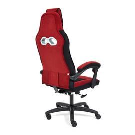 Кресло компьютерное «Arena» флок  бордовый/черный, 10/35 TetChair, Цвет товара: бордовый, изображение 4
