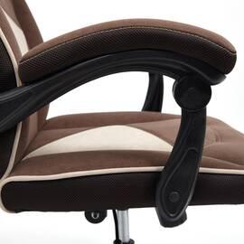 Кресло компьютерное «Arena» флок коричневый/бежевый 6/7 TetChair, Цвет товара: Коричневый, изображение 14