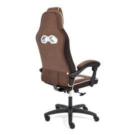 Кресло компьютерное «Arena» флок коричневый/бежевый 6/7 TetChair, Цвет товара: Коричневый, изображение 4