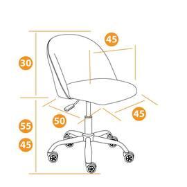 Компьютерное кресло Melody флок бордовый 10 TetChair, Цвет товара: бордовый, изображение 10