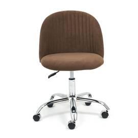 Компьютерное кресло Melody флок коричневый 6 TetChair, Цвет товара: Коричневый, изображение 3