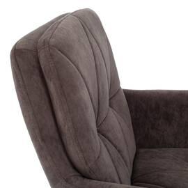 Компьютерное кресло Garda флок коричневый 6 TetChair, Цвет товара: Коричневый, изображение 6