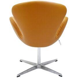 Кресло Swan Chair оранжевый Прессованная кожа Bradex Home, Цвет товара: Оранжевый, изображение 3