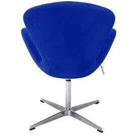 Кресло Swan Chair синий искусственная замша Bradex Home, Цвет товара: Синий, изображение 4