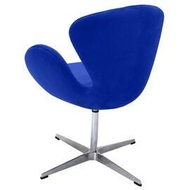 Кресло Swan Chair синий искусственная замша Bradex Home, Цвет товара: Синий, изображение 5