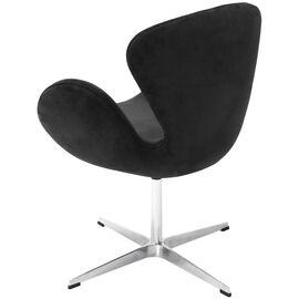 Кресло Swan Chair графит искусственная замша Bradex Home, Цвет товара: Графит, изображение 2