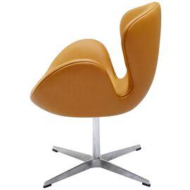 Кресло Swan Chair оранжевый Прессованная кожа Bradex Home, Цвет товара: Оранжевый, изображение 4