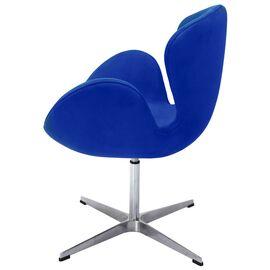 Кресло Swan Chair синий искусственная замша Bradex Home, Цвет товара: Синий, изображение 6