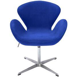 Кресло Swan Chair синий искусственная замша Bradex Home, Цвет товара: Синий, изображение 3