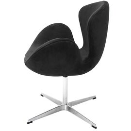 Кресло Swan Chair графит искусственная замша Bradex Home, Цвет товара: Графит, изображение 3