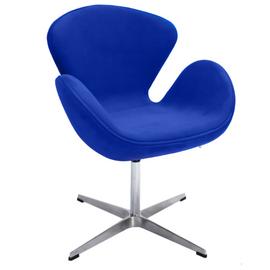 Кресло Swan Chair синий искусственная замша Bradex Home, Цвет товара: Синий