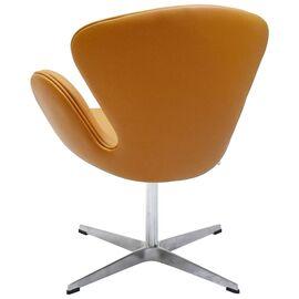Кресло Swan Chair оранжевый Прессованная кожа Bradex Home, Цвет товара: Оранжевый, изображение 5