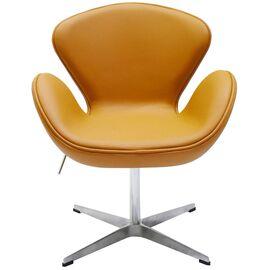 Кресло Swan Chair оранжевый Прессованная кожа Bradex Home, Цвет товара: Оранжевый, изображение 6