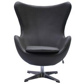 Кресло EGG CHAIR серый прессованная кожа Bradex Home, Цвет товара: Серый