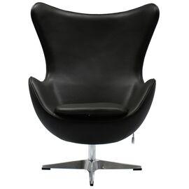 Кресло EGG CHAIR черный прессованная кожа Bradex Home, Цвет товара: Черный