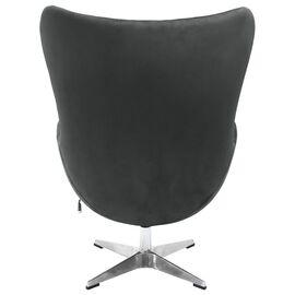 Кресло EGG CHAIR графит искусственная замша Bradex Home, Цвет товара: Графит матовый, изображение 3