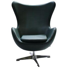 Кресло EGG CHAIR зеленый прессованная кожа Bradex Home, Цвет товара: Зеленый