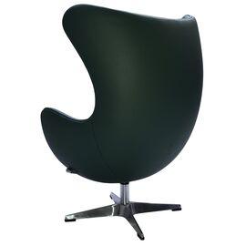 Кресло EGG CHAIR зеленый прессованная кожа Bradex Home, Цвет товара: Зеленый, изображение 3