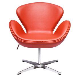 Кресло Swan Chair красный прессованная кожа Bradex Home, изображение 2