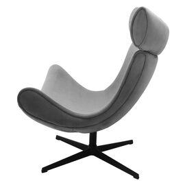Кресло IMOLA серый искусственная замша Bradex Home, Цвет товара: Серый, изображение 3