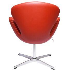 Кресло Swan Chair красный прессованная кожа Bradex Home, изображение 4