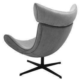 Кресло IMOLA серый искусственная замша Bradex Home, Цвет товара: Серый, изображение 4