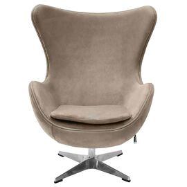 Кресло EGG CHAIR латте искусственная замша Bradex Home, Цвет товара: Латте