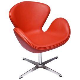 Кресло Swan Chair красный прессованная кожа Bradex Home
