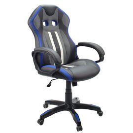 Кресло для геймеров Dikline KD37H Синий, Цвет товара: Чёрный / Синий