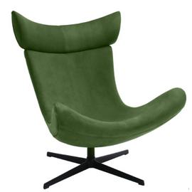 Кресло IMOLA зеленый искусственная замша Bradex Home, Цвет товара: Зеленый