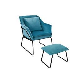 Комплект кресло и оттоманка ALEX бирюзовый Bradex Home, Цвет товара: Бирюзовый
