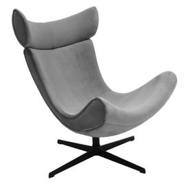 Кресло IMOLA серый искусственная замша Bradex Home, Цвет товара: Серый