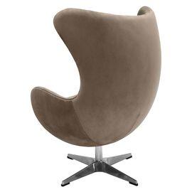 Кресло EGG CHAIR латте искусственная замша Bradex Home, Цвет товара: Латте, изображение 3