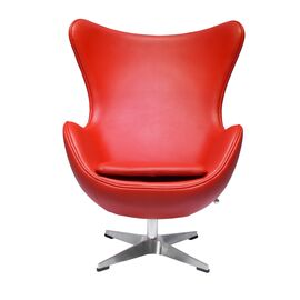 Кресло EGG CHAIR красный прессованная кожа Bradex Home, Цвет товара: Красный