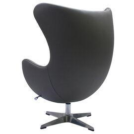 Кресло EGG CHAIR серый прессованная кожа Bradex Home, Цвет товара: Серый, изображение 3