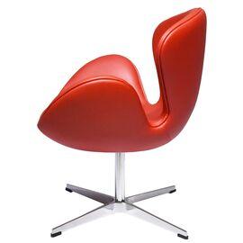 Кресло Swan Chair красный прессованная кожа Bradex Home, изображение 3