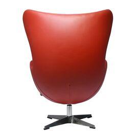 Кресло EGG CHAIR красный прессованная кожа Bradex Home, Цвет товара: Красный, изображение 3