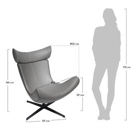 Кресло IMOLA серый искусственная замша Bradex Home, Цвет товара: Серый, изображение 6