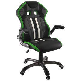 Кресло для геймеров Dikline KD37H-17 Зеленый, Цвет товара: Чёрный / Зелёный