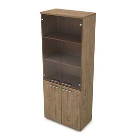 Шкаф для документов высокий GLOSS LINE ALSAV 9НШ.005.12 TEAKWOOD 800*450*2045, Цвет товара: TeakWood