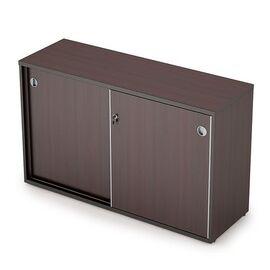 Шкаф-купе для документов низкий средний AVANCE 6ШКЗ.011 Венге 1235х400х750 ( с замком), Цвет товара: Венге