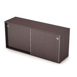 Шкаф-купе для документов низкий длинный без замка AVANCE ALSAV  6ШК.018 Венге 1635х400х750, Цвет товара: Венге