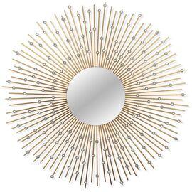 Зеркало-солнце в металлической раме Raindrops (Рейндропс) Art-zerkalo