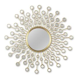 Зеркало-солнце в металлической раме Splash (Сплэш) Art-zerkalo