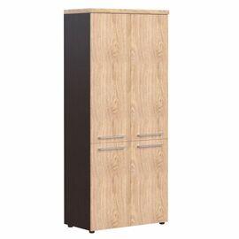 Шкаф для документов с глухими средними и малыми дверьми AHC 85.3 Дуб девон Skyland ALTO 850х430х1930, Цвет товара: Дуб девон