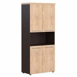 Шкаф для документов с 2-мя комплектами глухих малых дверей и топом AHC 85.4 Дуб девон Skyland ALTO 850х430х1930, Цвет товара: Дуб девон